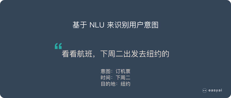 基于NLU识别用户意图