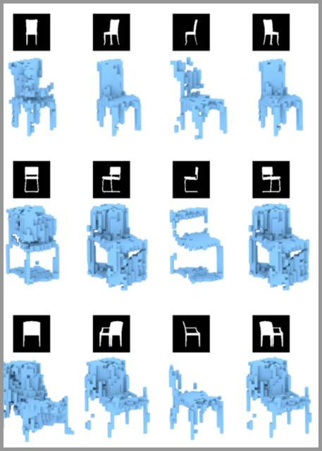 从2D图像到3D椅子模型的建立过程