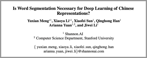 Is Word Segmentation Necessary for Deep Learning of Chinese Representations?