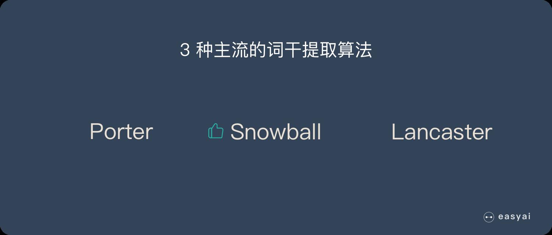 3 种主流的词干提取算法
